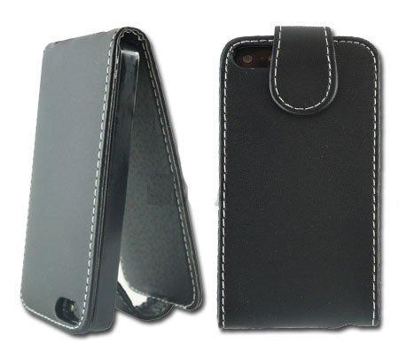New Schwarz PU Leder Flip Handy Schutzhülle für Apple I Phone 55G