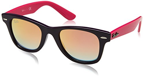 (Ray-Ban Junior RJ9066S Wayfarer Kids Sunglasses, Violet/Copper Gradient Mirror, 47 mm)