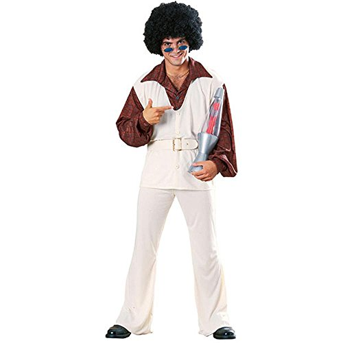 Men's 70s White Polyester Leisure Suit Costume (Leisure Suits For Sale)