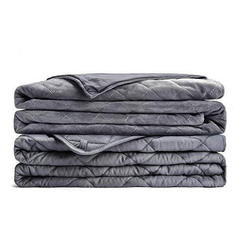 L'AGRATY Weighted Blanket for Adults with Removable Cover (20 lbs, 60x80, Queen Size) | A Luxurious Combination | No Bead Mission, Uniform Distribution. Black Friday & Cyber Monday 2018