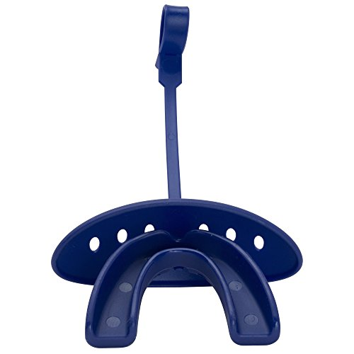 ADAMS USA 3-In-1 Lip Protector Varisty Mouth Guard with Strap, Royal Blue