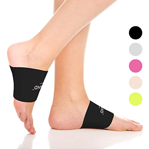 (YOWBAND Compression Arch Support for Men&Women - Foot Walk Fit Orthotic Support - for Pain Relief, Flat Feet, Heel Spurs)