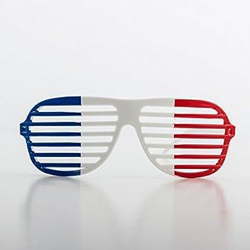 Gafas persiennes plástico de la bandera de Francia – Artículo de ...