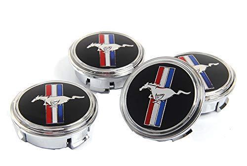 ffomo Bearfire 4Pcs Waterproof LED Light Wheel Hub Center Caps Cover (for Mustang)