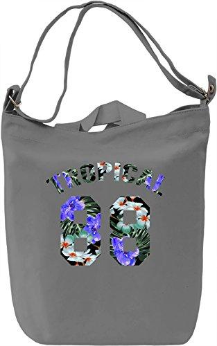 Tropical Borsa Giornaliera Canvas Canvas Day Bag  100% Premium Cotton Canvas  DTG Printing 