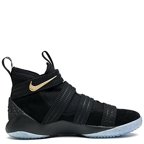Nike Men Lebron Soldier Xi Sfg black metallic gold-white Size 10.0 US by NIKE