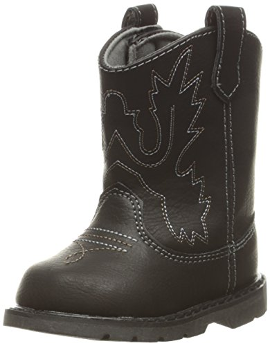 Baby Deer Baby Western Square Toe Boot, Black, 3 M US Infant