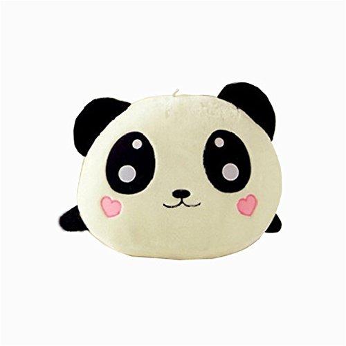 20cm Poupée mignonne en peluche, rembourré Panda oreiller qualité Bolster cadeau (Blanc)
