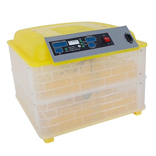 Decdeal General Purpose Incubators,Practical Fully Automatic Poultry Incubator,US Standard - Yellow & Transparent - AC ()