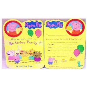 amazon com peppa pig party invitations pack of 8 peppa pig party