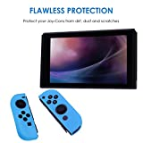 HDE Silicone Joy-Con Cover for Nintendo Switch Anti-Slip Protective Skin Non-Adhesive Comfort Grip Controller Case (Blue)