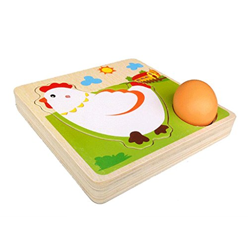 [해외]【 무상 표 품 】 아이 멀티 레이어 나무 퍼즐 치킨 닭 아기 학습 교육 완구 선물 / 【Unbranded Item】Children Multilayer Wooden Puzzle Chicken Chicken Baby Learning Educational Toys Gifts