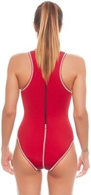 Turbo Agua Ball Traje Mujer Water Polo WP Traje Rojo, Color Rojo ...
