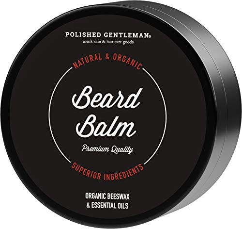 Premium Sandalwood Beard Balm Wax – Best Beard Moisturizer With Tea Tree Oil – Softens & Conditions – For Men Shaping and Styling – Itch Free – Organic Ingredients – 2oz – Made in USA