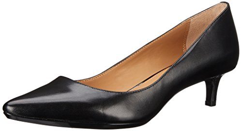 Calvin Klein Women's Gabrianna Pump, Black Leather, 7.5 Medium -