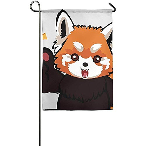 Red Panda Clipart Face Garden Flag Indoor & Outdoor Decorative Flags for Parade Sports Game Family Party Wall -