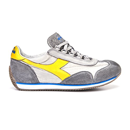 sneakers uomo diadora heritage euipe sw dirty colore grigio giallo