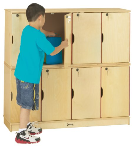 Jonti-Craft 4688TK Stacking Lockable Lockers, Single Stack by Jonti-Craft