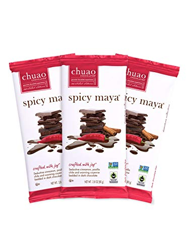 Chocolate Bars - Chuao Chocolatier Chocolate Bars 3pk (2.8 oz bars) - Best-Selling Chocolate Pack - Gourmet Artisan Chocolate - Free of Artificial Flavors (Spicy Maya, Dark Chocolate) (Best Selling Chocolate Bar In The World)