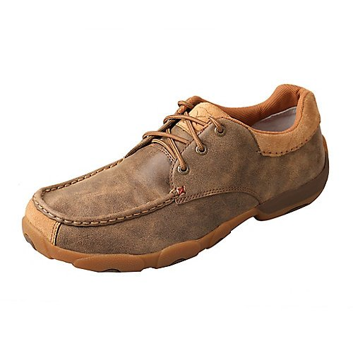 Twisted X Mens Bomber Brown Driving Mocs 13 by Twisted X