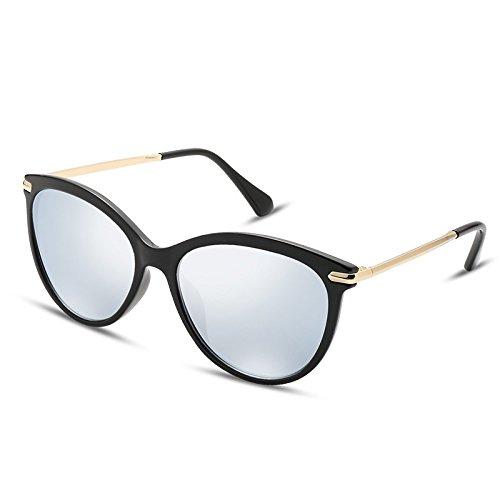 Eye Steampunk sunglasses Sol Ultraligeras Lentes Silver Rosa Gafas Tl Redonda Cat De XgOYq