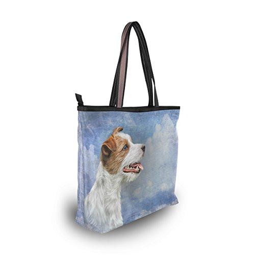 Russell Terrier Spalla Borsa Grande Amazon ALAZA Cane Jack Borsa it MKpttTA