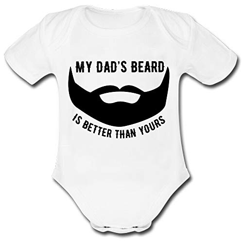 (Baby Suit My Dad'S Beard is Better Than Yours Cotton Newborn Outfit Onesie Short Sleeve 3 Months)