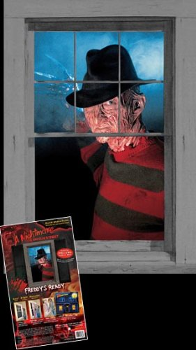 WOWindow Posters Freddy's Ready Nightmare on Elm Street Halloween Window Decoration 34.5''x60'' Backlit Poster