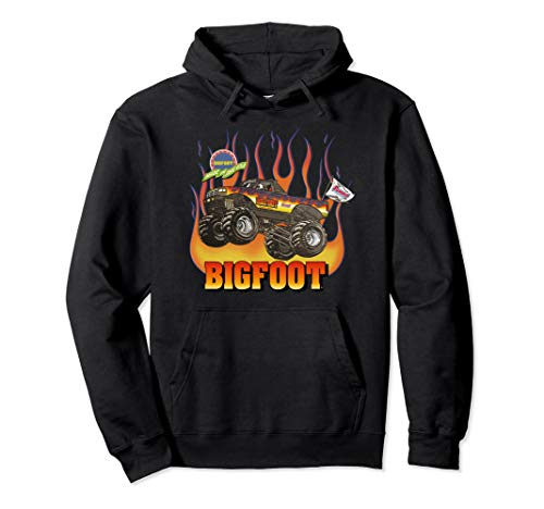 - 1994-1995 BIGFOOT Black Flame Design Pullover Hoodie