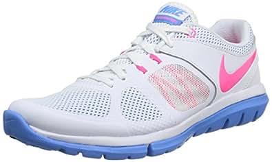 Nike Women's Flex 2014 Rn White/Hyper Pink/Unvrsty Blue Running Shoe 6.5 Women US