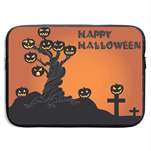 KKP Halloween Pumpkin Tree Laptop Bag Briefcase Shoulder Messenger Bag Laptop Bag Satchel Tablet Bussiness Carrying Handbag Laptop Sleeve for Women and Men -