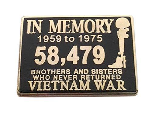 (in Memory of The Vietnam WAR 1959-1975 Military Veteran Hat Pin P15843 EE)