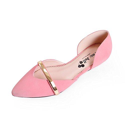 de de A Zapatos Zapatos Asakuchi cuñas de bajo mujer de primavera señaló zapatos tacón TOTPZ8w
