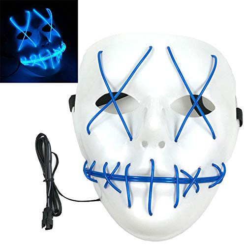 Coolest Halloween Masks (Scary Led Light Up Purge Costumes Glow Stick Party City Mask for Parties Festival Halloween Costume by Magical)