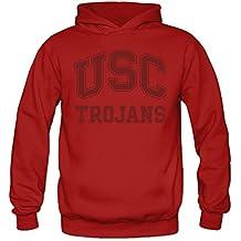 Women's USC Trojans Text Logo Sports Blank Hooded Sweatshirt X-Large Red