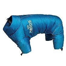 Dog Helios Thunder-Crackle Full-Body Waded-Plush Adjustable and 3M Reflective Pet Dog Jacket Coat with Blackshark Technology, Blue Wave, Small