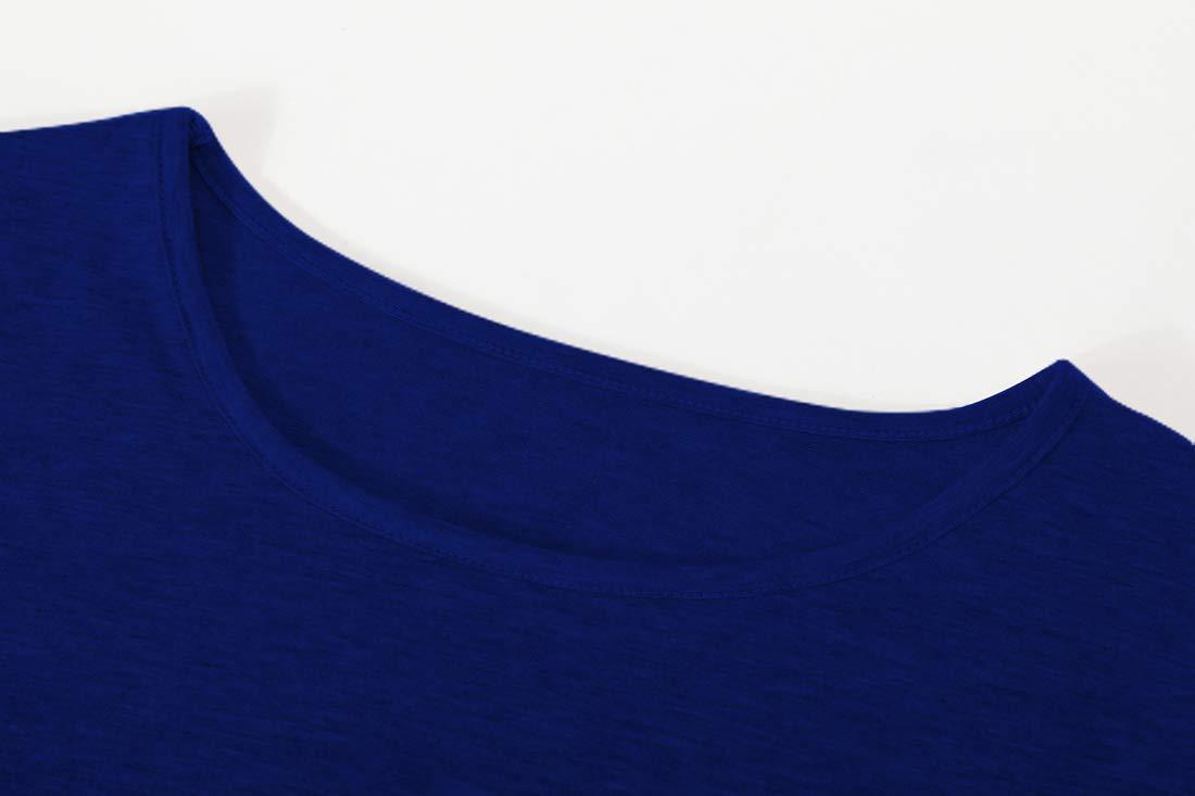 Gititlys Womens Striped Long Sleeve T-Shirts for Women Round Neck Loose T-Shirt(S-2XL) (XL, A-Dark Blue)
