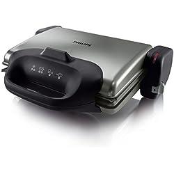 Philips HD4467/90 Health Grill-Bistecchiera-Toast - con Piastra Antiaderente e 3 posizioni di cottura
