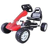 Aosom Pedal Go Kart Kids Children Racing Wheel Rider on Outdoor Racer Red