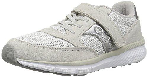 Saucony Jazz Lite A/C Sneaker (Little Kid), Silver/Metallic, 12.5 Medium US Little Kid (Silver Kids Big Apparel)