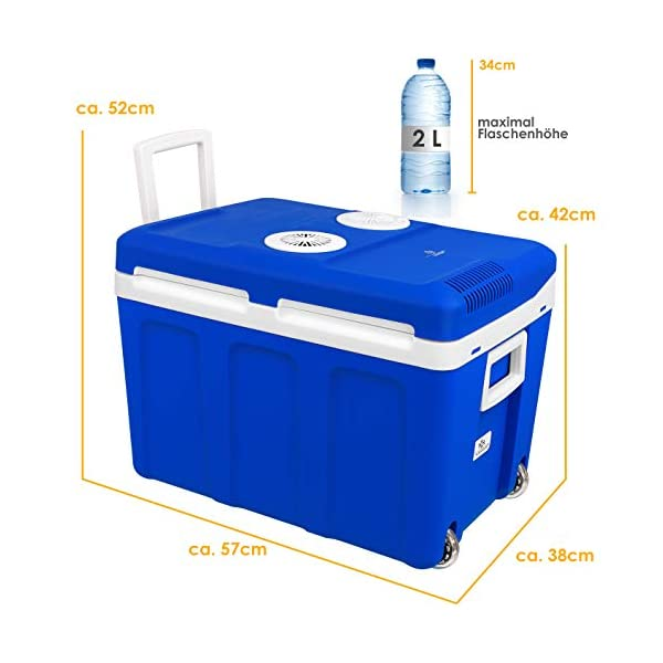 41nzmIJFn2L Kesser® 40L Kühlbox mit Rollen | zum Warmhalten und Kühlen | Thermo-Elektrische Kühlbox | 12 Volt und 230 Volt| Mini…