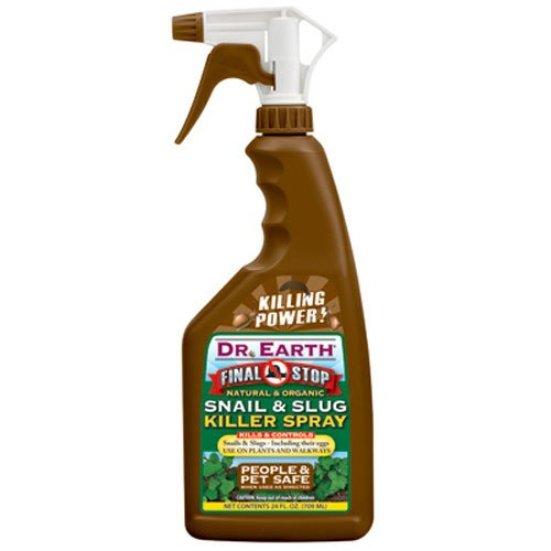 Dr. Earth 8001 Ready to Use Snail and Slug Killer Spray, 24-Ounce