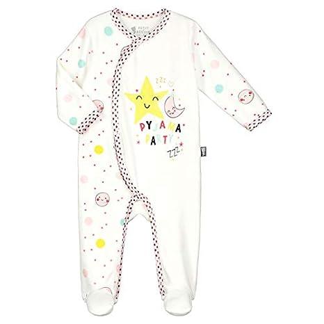 50bf55018a47e Pyjama bébé velours écru Jolie Planète - Taille - 6 mois (68 cm ...