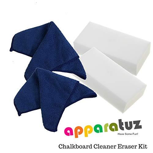 (Chalk Marker Eraser Cleaner Kit For Chalkboard Markers, Liquid Chalk Pen, Dry Erase Board, Blackboard, Whiteboard, Glass and Window)