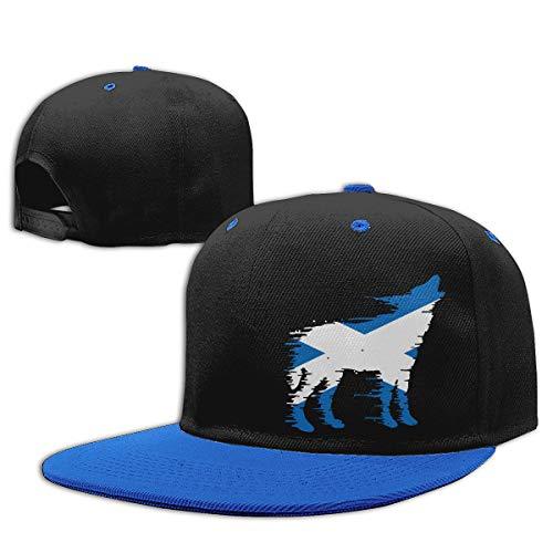 - Toddler Boys Baseball Cap Scotland Flag Wolf Cotton Hip Hop Hat Blue