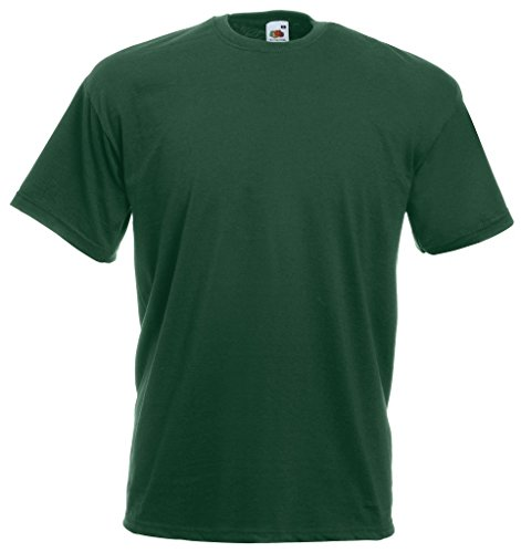 Fruit of the Loom Camiseta S-XXXL en varios colores verde - verde botella