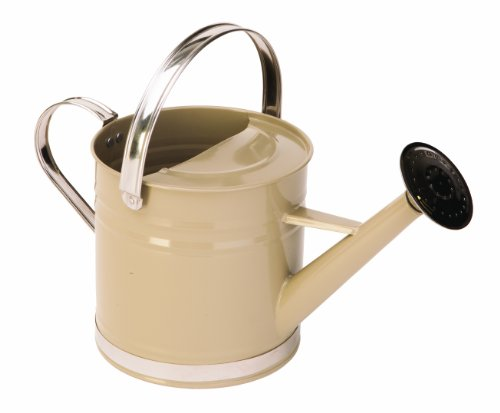 Traditional Painted with Chrome Trim Watering Can, 3.2 Liter, 4 Assorted Colors ()