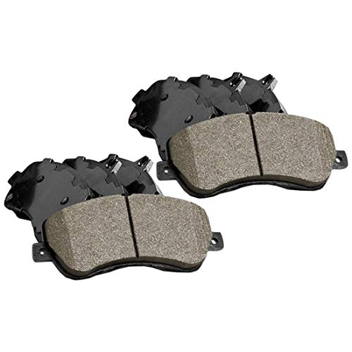 (Front and Rear Posi-Quiet Ceramic Brake Pads 2Set for 2016 Mercedes-Benz C300)