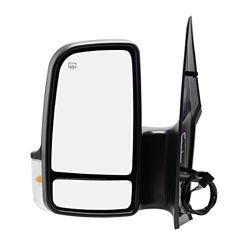 Spieg MB1320114 Side Mirror Replacement for Dodge Freightliner Mercedes Sprinter Power Heated w/Turn Signal Light Driver Left