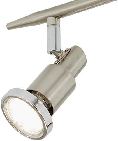 Briloner Leuchten LED Deckenleuchte, Deckenlampe mit beweglichen Spots, inkl. 6 x GU10 3 W Leuchtmittel, moderne Deckenstrahler, Länge: 92 cm